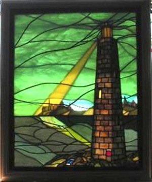 NAUTICAL-DESIGN-Stained-Glass-Pattern-Book-LIGHTHOUSE- | eBay